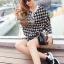 Houndstooth Millie Set Outer Skirt by Seoul Secret thumbnail 4