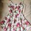 Lovely Floral Mini Dress มินิเดรสแขนกุด ลายดอกไม้ สียีนส์ สีขาว thumbnail 12