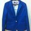 ZARA WOMAN Blazer สีน้ำเงิน แต่งซับในลายทาง (Size M) thumbnail 2