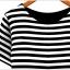 เดรส ผ้า Cotton ผสม Spandex พิมพ์ลายขวางตัดต่อผ้าสีพื้น สีดำ thumbnail 4