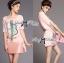 Lady Ribbon Dress Set ชุดเซ็ทเดรสปักเลื่อม พร้อมเข็มขัด thumbnail 3