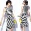 Lady Ribbon Lady Charlies Mix Striped Monochrome Dress thumbnail 3