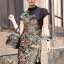 Lady Ribbon Dress เดรสคอเต่าปักลายนกยูง thumbnail 1