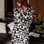 Lady Ribbon Black and White Daisy Wrap Maxi Dress thumbnail 2