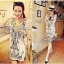 Lady Ribbon Embroidery Chiffon Dress เดรสปักลาย ผ้าชีฟอง thumbnail 7