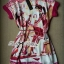 Lady Ribbon Pink Illustrated Printed Mini Dress with Belt thumbnail 6