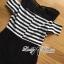 Lady Ribbon Cut-Out Shoulder Striped Maxi Dress thumbnail 8