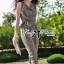 Lady Ribbon Jumpsuit จั๊มสูทขายาว ทรงแขนกุด สีเขียวขี้ม้า thumbnail 1