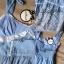 Liz Lisa Mermaid Maxi Dress เดรสทรงหางปลาสียีนส์ ผูกโบว์ไหล่ thumbnail 7