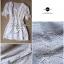 Lady Ribbon มินิเดรสสีขาว ดีเทลลายฉลุดอกไม้ สม็อคเอว thumbnail 6