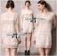 Lady Ribbon Long-Sleeve Dress in Off White thumbnail 2