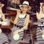 Seoul Secret Chic Stripy Bib Dress thumbnail 2