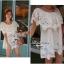 Lady Ribbon เสื้อลูกไม้สีขาว ดีเทลระบาย ปักฉลุลายดอก thumbnail 5