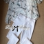 Lady Ribbon Marble Chiffon Top and White Leggings Set thumbnail 7