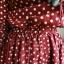 เดรสผ้าลูกฟูก สีแดงลายจุดสีขาว คอปกแบบเสื้อเชิ้ตกระดุมหน้า เอวยางยืด thumbnail 4