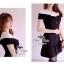 B&W Ribbon Mini Dress มินิเดรสโทนสีขาวดำ แต่งโบว์ thumbnail 3