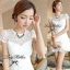 Lady Ribbon White Blossom Embroidery Gala Mini Dress thumbnail 4