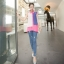 เสื้อชีฟองสีชมพู ชายเสื้อด้านหน้าสั้น ด้านหลังยาว thumbnail 6