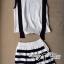 Lady Ribbon ชุดเซ็ตเสื้อทรงเอี๊ยมและกางเกงขาสั้นลายทาง thumbnail 8