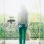 Odee Cutie ชุดเซ็ทเสื้อกับกางเกงขายาว โทนสีเขียว thumbnail 7