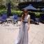 Odee Cutie Korean Style Maxi Dress ชุดเดรสยาวสีเทา แขนกุด thumbnail 7