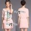 Lady Ribbon Dress Set ชุดเซ็ทเดรสปักเลื่อม พร้อมเข็มขัด thumbnail 4