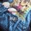 Lady Ribbon Kitty Printed Insert Lace Jersey Dress thumbnail 6