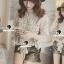 Seoul Secret Creaming Flora Lace Bow Blouse thumbnail 1