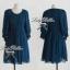 Lady Ribbon Dolly Mini Dress เดรสสีกรมท่า เเขนตุ๊กตา thumbnail 9