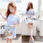 Lady Ribbon Baby Blue Graphic Dress thumbnail 6