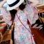 Molly Print Dress ชุดเดรสพิมพ์ลาย ผ้าชีฟองเกาหลี thumbnail 4
