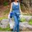 Seoul Secret Nifty Blue Tenderness Gene Long Playsuit thumbnail 4