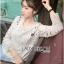 Lady Ribbon Sweet Mix Fabrics Lace Blouse thumbnail 3