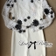Lady Ribbon Elegant Monochrome Embroidered Lace Dress thumbnail 7