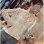 Lady Ribbon Sweet Mix Fabrics Lace Blouse thumbnail 8