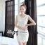 Lady Ribbon Lace Dress เดรสแขนกุดผ้าลูกไม้สุดหรู thumbnail 1