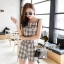 Seoul Secret ชุดเซ็ทเสื้อพร้อมกางเกงขาสั้นลายสก๊อต thumbnail 6