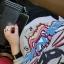 HOT SELL เสื้อยืดแขนยาว ผ้าCotton ปักลายเสือด้านหน้า สีเทา thumbnail 7