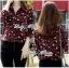 Lady Ribbon Leopard Print Shirt เชิ้ตพิมพ์ลายเสือ thumbnail 7