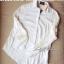 Lady Ribbon Sassy Shirt เสื้อเชิ้ตแขนยาว ตัดต่อผ้าตาข่าย ซีทรู สีขาว+สีดำ thumbnail 13