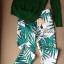Lady Ribbon Green Knit Leaf Print Set เซ็ตเสื้อพร้อมกางเกง thumbnail 7
