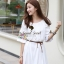 Seoul Secret Nifty Bohe Embroider Ivory Dress thumbnail 3