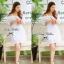 Lady Ribbon Chic Lace Dress เดรสผ้าลูกไม้ ผ้าฉลุลาย เปิดไหล่ thumbnail 4