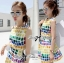 Lady Ribbon Lady Coco Chanel Colorful Painting Dress Set thumbnail 7