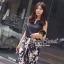 Seoul Secret ชุดเซ็ทเสื้อ กางเกงขายาวลายดอกซากุระ thumbnail 4