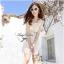 Lady Ribbon Sweet Honey Lace Dress เดรสผ้าลูกไม้ลายดอกสีขาว thumbnail 2