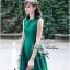 Lady Ribbon มินิเดรสแขนกุด สีเขียว ชายกระโปรงทรงเก๋ๆ thumbnail 6