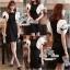 VALENTINO Queen ฺBlack Dress เดรสดำ แต่งแขนกุหลาบขาว thumbnail 9
