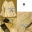 Lady Ribbon เสื้อแขนยาวเปิดไหล่ สีครีม-สีขาว thumbnail 14