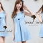 Seoul Secret Blue Rabbit Denim Dress thumbnail 2